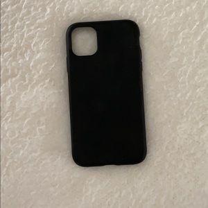 Black Silicone Case iPhone 11